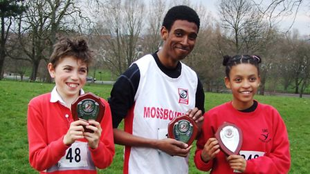 Left to right: individual winners Luca Minale, Nile McKenzie and Felix Waters
