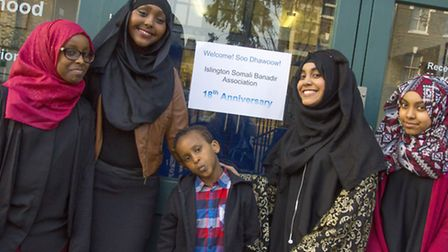 (from left) Suada, Hani, Mustafa, Nura and Nasra enjoy the celebrations Pic: Marcus Tylor