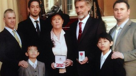 Doug and Glynis Lee, collected their MBE for services to the community in 2010