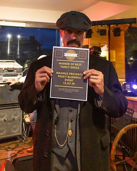 Winner of best fancy dress at the Peaky Blinders event - Jason. Picture: Charlie Ketchen photography