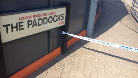 The murder scene is still cordoned off today