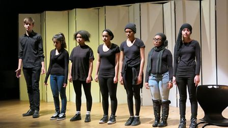 Pupils from Capital City Academy in Willesden put on play about migrants experiences after examing r