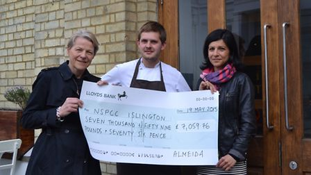 The Almedia restaurant has raised more than £7,000 for charity