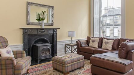 The front room of our Edinburgh flat was airy, yet cosy