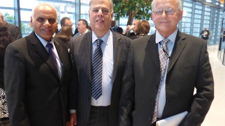 Cllr Suresh Kansagra, leader of the Conservative group, Cllr Michael Maurice and Cllr Reg Colwill, d