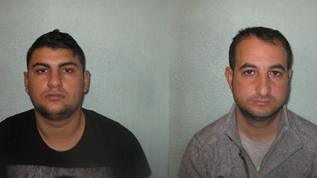 Romanians Ciprian Caldararu (left) and Mihai Munteanu were arrested on suspicion of phone snatching