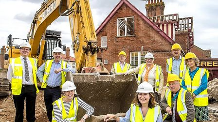 Construction work is under way as the former Southwold Hospital is transformed into housing and a co