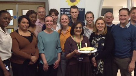 The Whittington TB department celebrated their first birthday this month