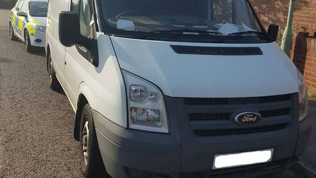Police seized a Ford Transit van on Beccles Road, Lowestoft. Picture: Lowestoft police