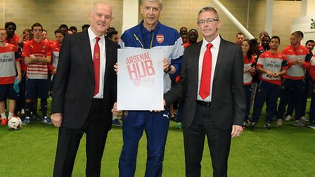 Arsenal manager Arsene Wenger officially opens the Arsenal Community Hub Pic: Arsenal FC