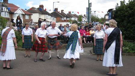 Scottish Dancing at the event