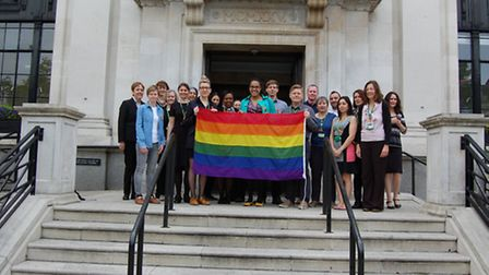 Islington Council staff donned orange ribbons to celebrate International Day Against Homophobia,Tran