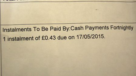 Rosalind Newberry's mum died and the council have sent her a bill for 43p for the deceaced's council