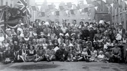Athelstane Road, N4, VE Day celebrations