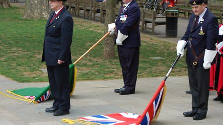 Islington marks the 70th anniversary of VE Day at the war memorial on Islington Green
