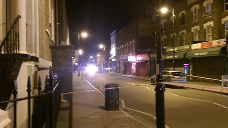 A man was stabbed in the back in Highbury Park on Saturday night