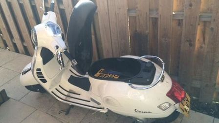 Police have seized this moped and arrested a 20-year-old man