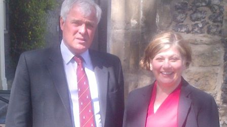 MP Emily Thornberry with Charlie Hobson, master of the Charterhouse