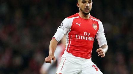 Arsenal's Theo Walcott in action against Monaco