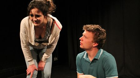 Here are 2 production shots with actors: Kluane Saunders and George Haynes in Where's Your Mama