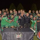 Hendon go into the play-offs on a high after winning the London Senior Cup last week. Pic: Andrew Al