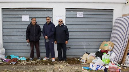Akbar Butt, Chirag Gir and Yogesh Patel are campaigning against flytipping in Wembley