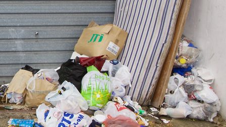 Flytipping dump their rubbish and waste on the streets