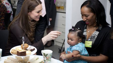 The Duchess of Cambridge visits Islington foster carers in January