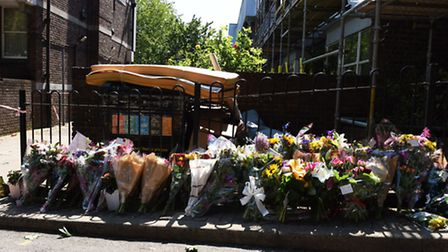 Stefan Appleton was found murdered in Caldy Walk Islington and floral tributes have been left at the
