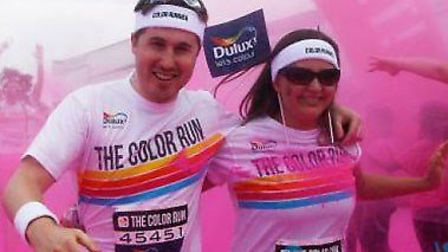 Color run is taking place in Wembley on Sunday