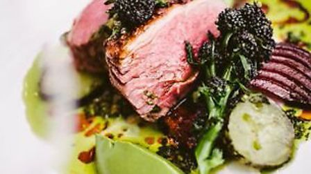 The lamb rump was a moist and tender treat