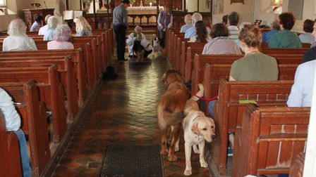 A popular pet service will take place on Sunday, July 28 at Somerleyton Church. A scene from a previ