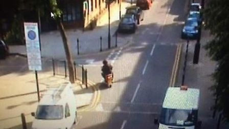 CCTV image shows the moped leaving from Arran Walk and entering Ashby Grove. Met police