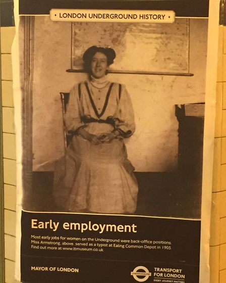 London Undergound History Poster as part of Maida Vale tube station's 100th anniversary