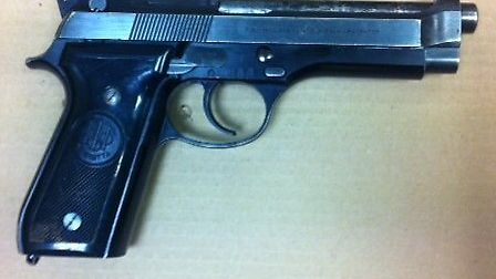 One of the firearms seized