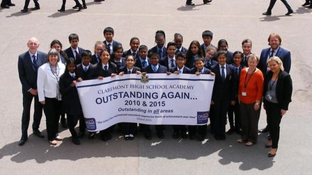 Claremont High School Academy in Kenton wins second outstanding status from Ofsted