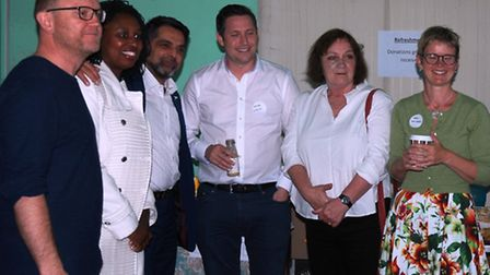 David Butcher, Trustee for FKRL, Dawn Butler MP, Cllr Mohammed Butt Leader of Brent Council, Margare