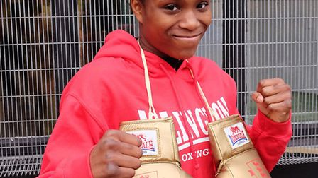 Islington BC's Caroline Dubois with her golden gloves