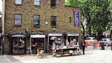 The section of pavement formerly known as 32 Islington Green sold for £125,000 at a Savills' auction