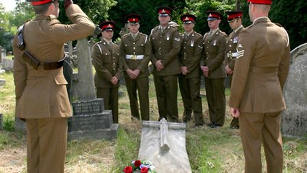 The Battle of Waterloo was marked at Kensal Green cemetary with a visit by the The Royal Regiment of