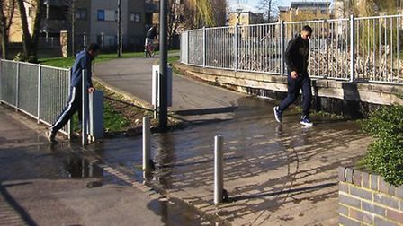 The Grand Union canal has flooded into streets in Stonebridge and Harlesden (Pic credit: Colin Georg