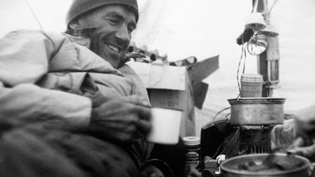Sir Edmund Hillary during a Mount Annette geological expedition in New Zealand (Pic credit: PA)