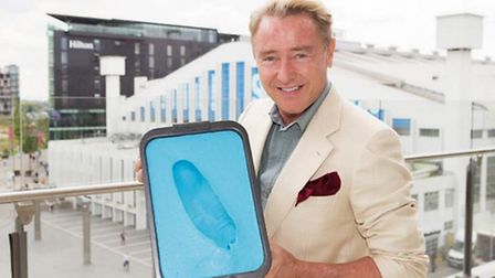 Riverdance star Michael Flatley's feet have been immortalised in bronze outside The SSE Arena at Wem