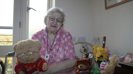 Sylvia Jeffery and her cuddly toy collection