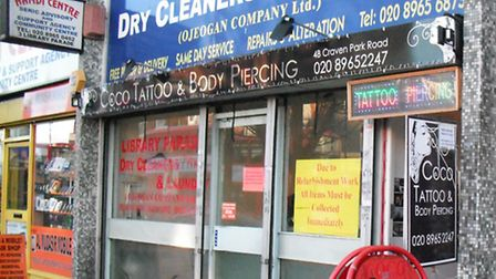 Coco Tattoo and Body Piercing on Craven Park Road (Pic credit: Brent Council)