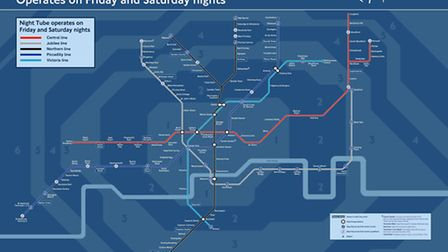 Five lines including the Jubilee Line will run through the night from September 12 (Pic credit: TfL)