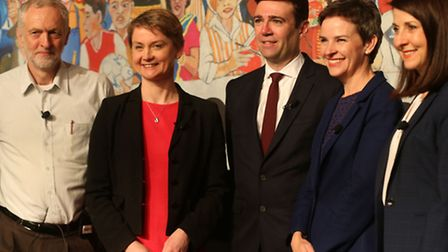 Labour leadership contenders (left to right) Jeremy Corbyn, Yvette Cooper, Andy Burnham, Mary Creagh