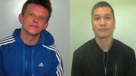 Damien Andrzejczyk, left, and Kum Yau are both wanted by Barnet Police