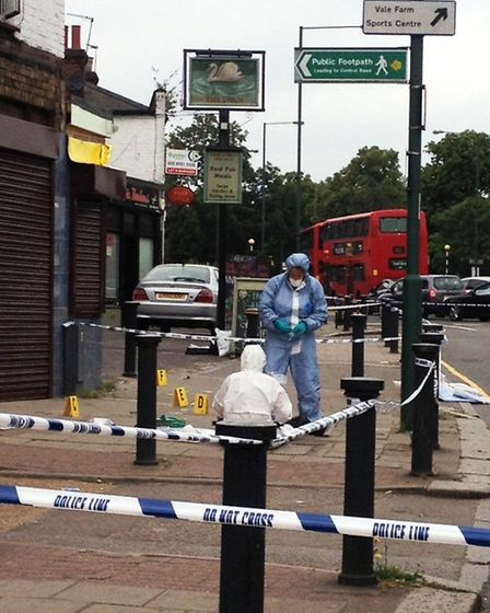 Forensic officers at the murder scene (Pic credit: Hannah McGrath)