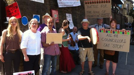 Islington Park Street residents and Cllr Caroline Russell outside One Housing Group offices